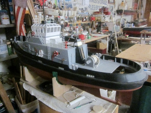 Navy tug odel done but wokring on radio controls Large Web view